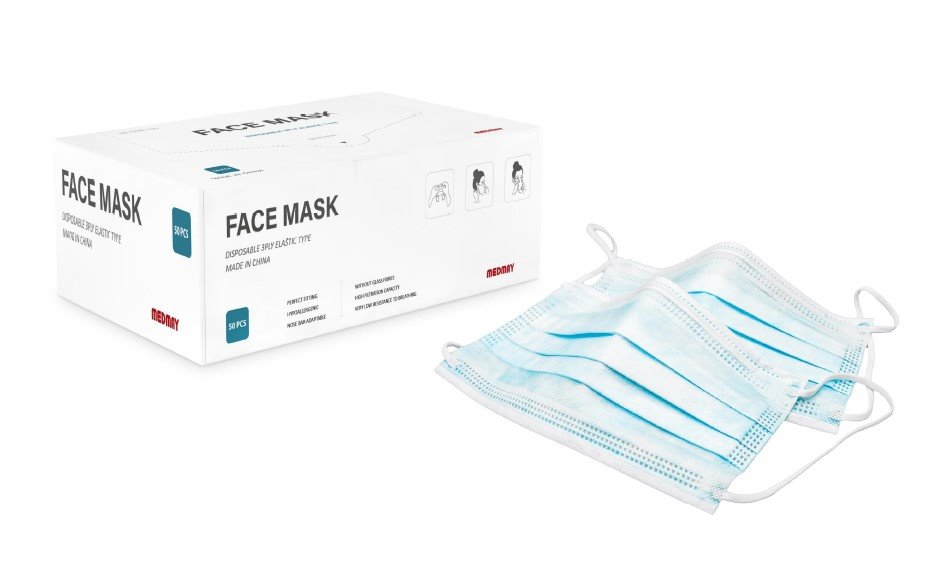 Disposable Protective Face Mask (3ply) MAR - WFM002 - Dailytec