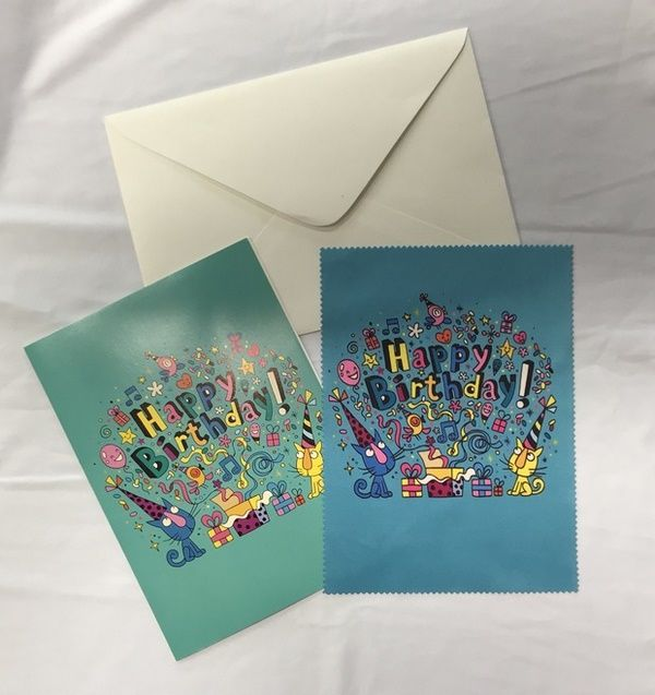 Postcards with 4C printed lens cloths - Dailytec