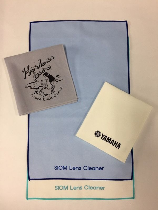 Luxury suede advertising glass wipes with screen printing Logo 1C or 2C on 1 side only - Dailytec