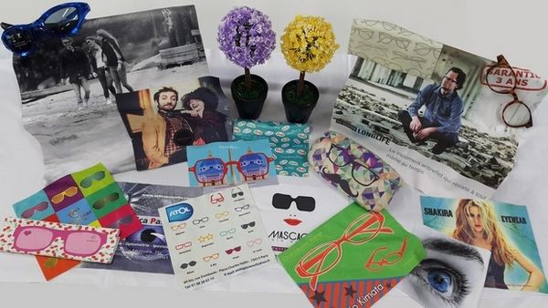Hightec advertising lens cloths - Very attractive prices for promotions - Digital printing 4 C on 1 or 2 sides - Dailytec