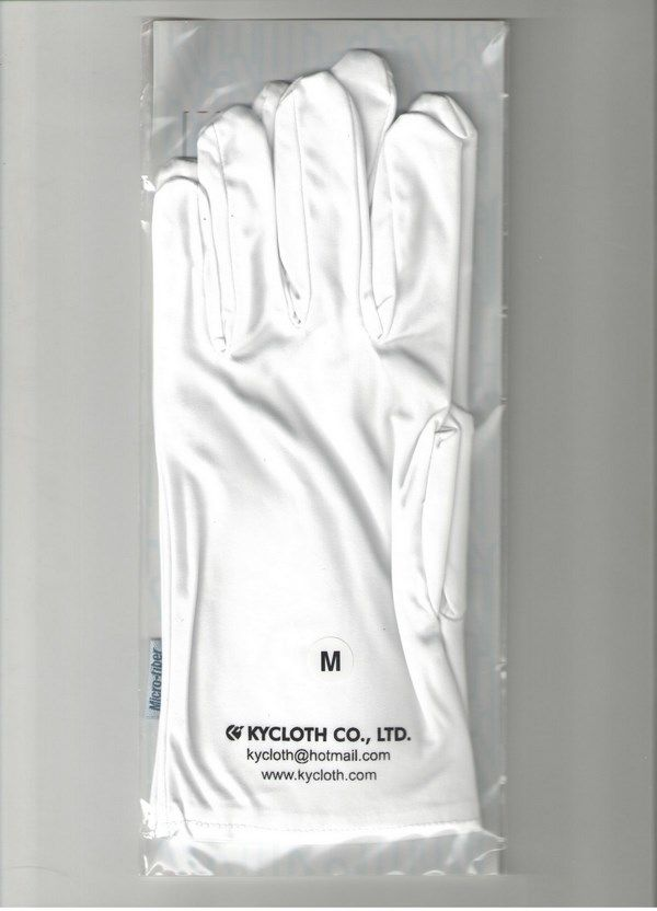 Glove in microfiber and cotton for optics, data-processing, computers and music - Dailytec