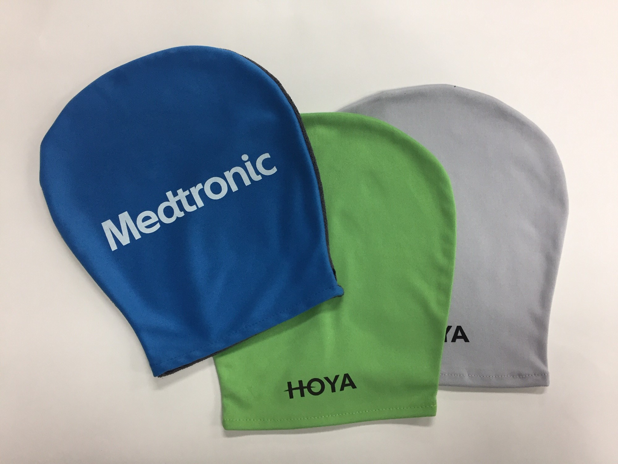 "Mitts glove ""SUEDE"" , with or without thumb, logo printed 1 C & 2 C for body care,  home and car cleaning - Dailytec"